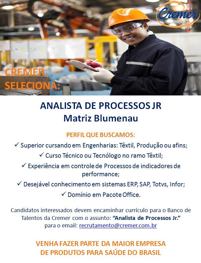 Vaga Analista Processos - 2017
